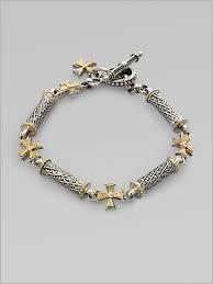 konstantino bracelet 221246 konstantino 18k gold sterling silver diamond cross