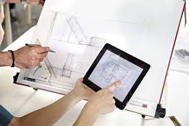 architectural drawings floor plans. Hands Pointing To A Floor Plan On Digital Tablet, With Architectural Drawings Being Modified Plans U