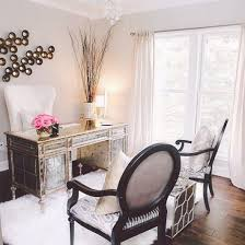 elegant office decor. love chair and pink flowers too elegant office decor