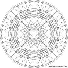 Small Picture Love Heart Mandala Mandala coloring Pages Pattern Mandala Free