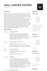 Paralegal Resumes Examples 12 Cover Letter Sample Resume Genius
