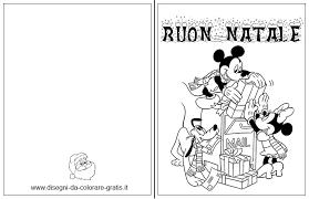 Biglietto Di Natale Da Colorare Per Bambini Personaggi Disney
