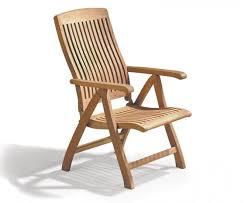 bali teak outdoor recliner chair