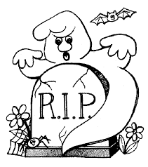 Ghost Coloring Pages In The Grave Coloringstar