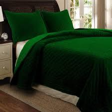 green velvet bedding
