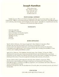 Security Guard Resume Skills Security Officer Resume Sample The