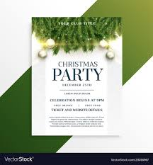 Free Holiday Design Templates Christmas Holiday Party Flyer Design Template