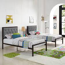 modern twin bed. Interesting Twin Myles TwinSized Gray Contemporary Bed Inside Modern Twin 4