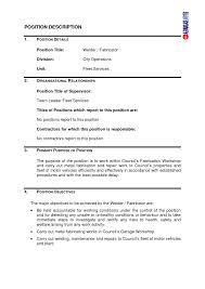 Cover Letter Welder Resume Template Welder Resume Sample Doc Free