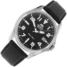 orient automatic black dial mens military watch er2d009b