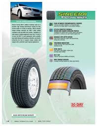 Falken Sincera Touring Sn211 Tire Specifications Mr Tire
