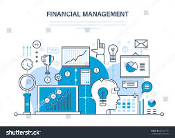 Finnancial Management Financial Management Analysis Market Research Deposits Stock Vector