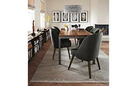 parsons dining table with cora chairs modern room pertaining to and board inspirations 8