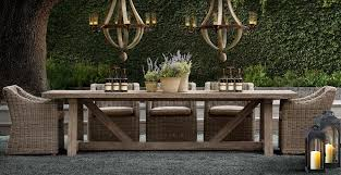 faux stone outdoor dining table. decorations \u0026 accessories amusing restoration hardware outdoor pillows dining table and collection in garden rattan sofa antique chandelier : decorative faux stone