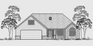 house rear elevation view for 10059 one story house plans house plans with bonus room