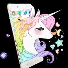 Lovely Colorful White Cloud Unicorn Theme Aplikace Na Google Play