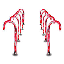 Green Candy Cane Pathway Lights 1 Pc Christmas Pathway Candy Cane Walkway Light 10 Inch