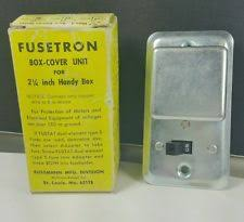 edison other industrial fuse accessories new mcgraw edison bussmann fusetron ssu box cover fuseholder and switch 15a 125v