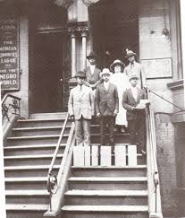 henrietta vinton davis and the garvey movement by professor henrietta vinton davis on front steps of the negro world newspaper as part of delegation presenting