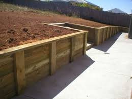Small Picture Composite Timber Retaining Wall Landscaping Border Composite