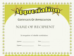 Free Appreciation Certificate Templates Free Certificate Templates