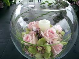 Fish Bowl Decorations For Weddings Exotic Decorative Fish Bowls Decoration Pink Roses Asters Flower 51