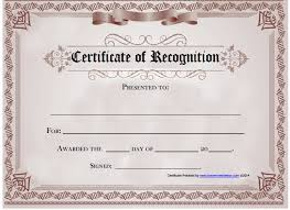 Certificate Of Recognition Template Free Download Certificate Of Recognition Certificate Of