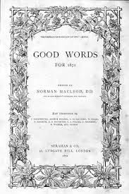 "How To Do A Cover Page Simple The Front Cover Or Title Page Of ""Good Words"" From 48"