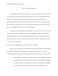 ethical business essay a custom essay sample on the topic of business ethics
