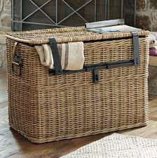 Sleek Travelers Wicker Chest Large