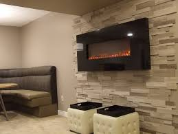 electric fireplace ideas with tv above home design