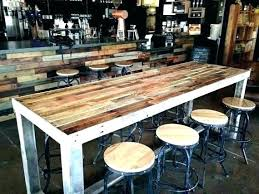 diy pub table simple pub table plans outdoor bar height pallet high top with regard to