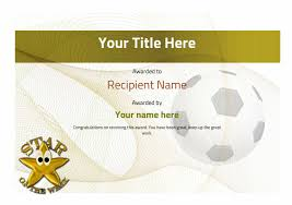 Free Soccer Certificate Templates Soccer Certificate Templates Madran Kaptanband Co