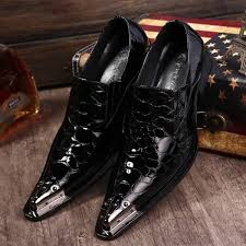 patent leather slip on dress shoes formal oxfords pointed toe men thumbnail extra images 0
