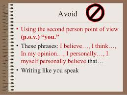 essay tips  amp  grading symbols   avoid• using the second person