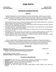 System Administrator Resume Format System Administrator Resume