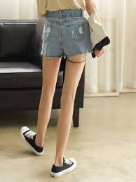 Light Shorts Outfit Summer New Arrival Fashion Womens Jeans Hole Shorts Light
