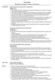 Facilities Maintenance Supervisor Resume Samples Velvet Jobs