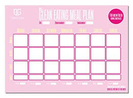 Clean Eating Meal Planning Chart Origym Clean Eating Meal Plan I Din A3 25 Sheets I Paper