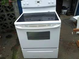 white glass top stove kenmore cleaner