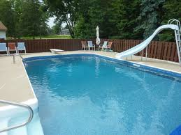 inground pools with diving board and slide. Muskego, WI Swimming Pool With Slide Vinyl Liner Replacement Inground Pools Diving Board And