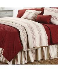 hiend accents prescott striped super king size duvet red hi res