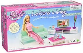 Amazon Barbie Size Dollhouse Furniture Family Room Toys & Games