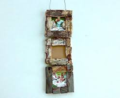 multiple picture frames rustic. 3x3 Picture Frames 3 Photo Frame Driftwood Tiered  Wall Decor Multiple Rustic E