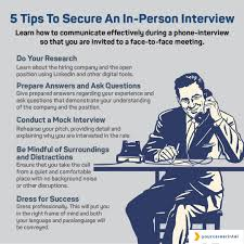 Tips For Interview Five Tips To Secure An In Person Interview Your Career Intel