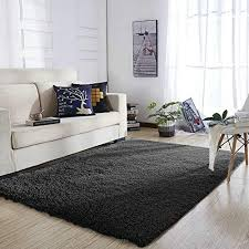 Image Red Yoh Super Soft Polyester Fiber Area Rugs Silky Smooth Bedroom Mats Fluffy Shaggy Rugs For Living Amazoncom Black Furry Rug Amazoncom