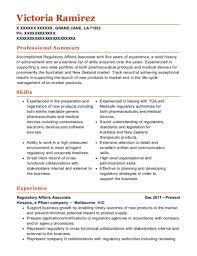 Regulatory Affairs Resume Magdalene Project Org