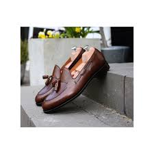 yanko tassel loafer dark brown leather maximize