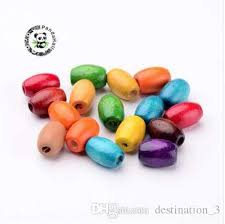 2019 mixed oval wooden beads dyed about 8mm wide 12mm long hole 3mm from destination 3 6 1 dhgate com