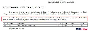 Inventario Fisico Efdicms Prazo Sigaofisco Siga O Fisco